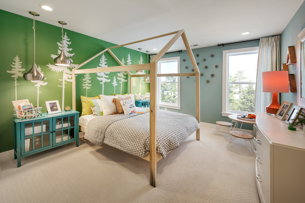 Sizable secondary bedrooms feature a shared hall bathroom