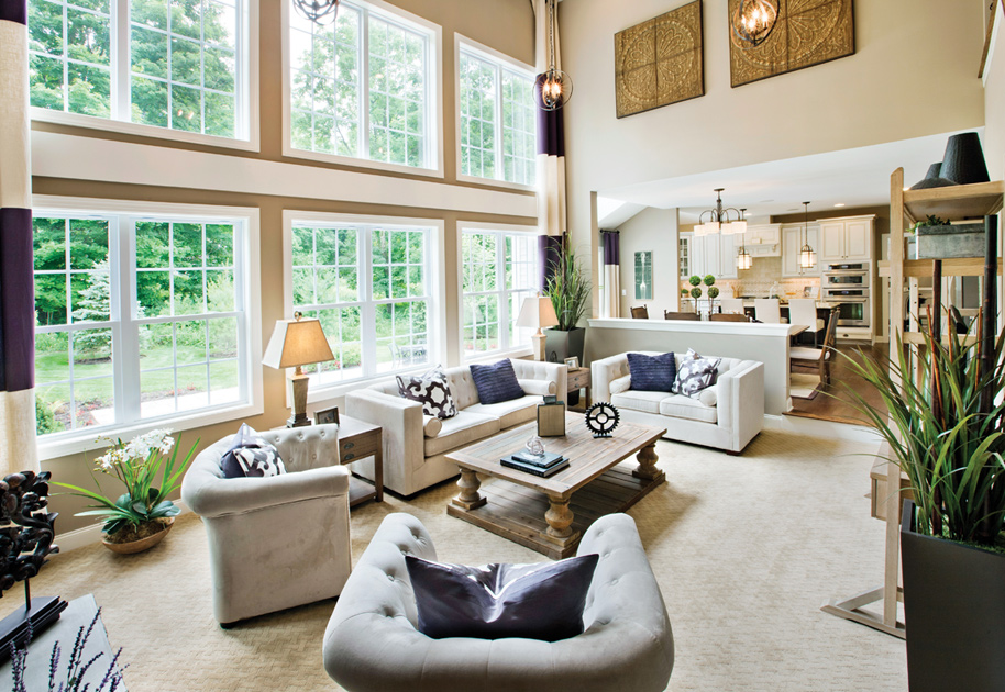 Toll brothers at four corners the columbia home design for Two story model homes
