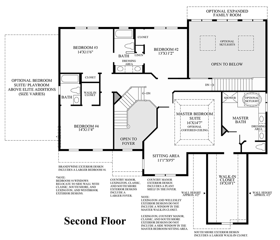 Design Your Own Home Toll Brothers: The Columbia II Home Design