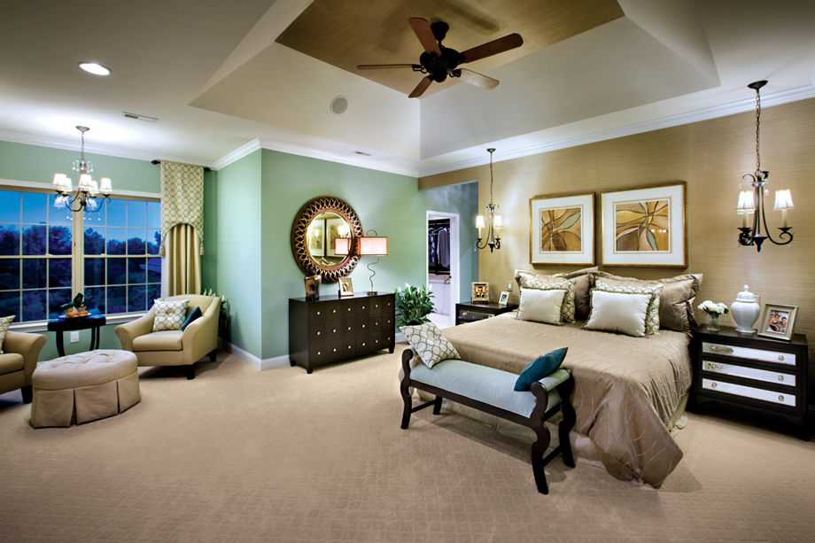 Lenah mill the executives for Model home master bedrooms