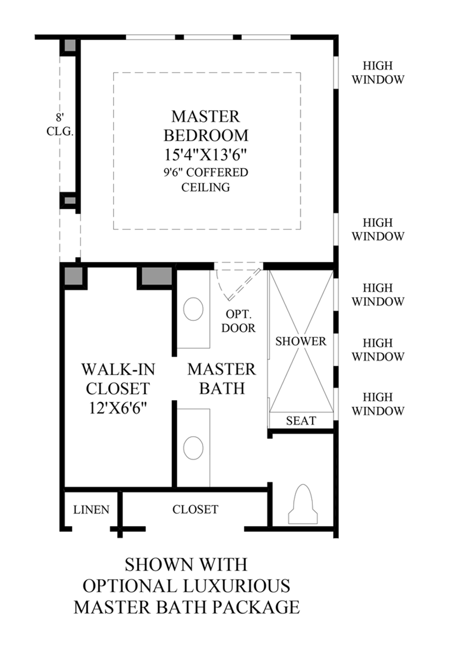 Optional Luxurious Master Bath Package