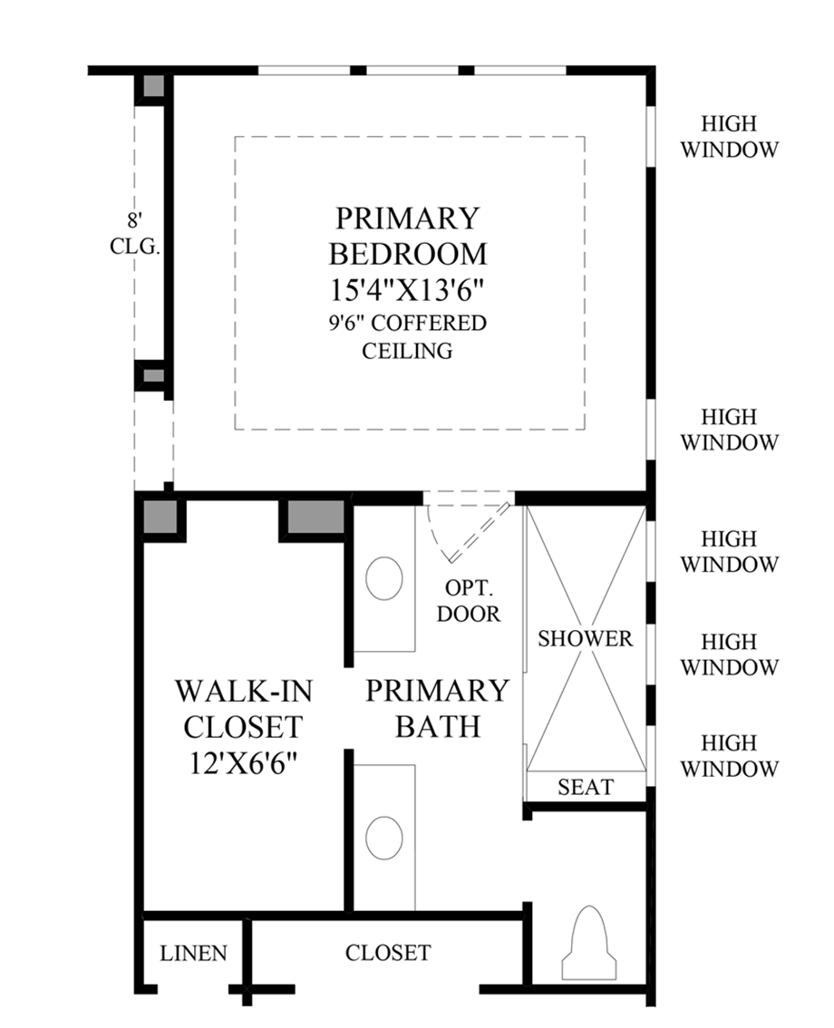 Optional Luxurious Primary Bath Package
