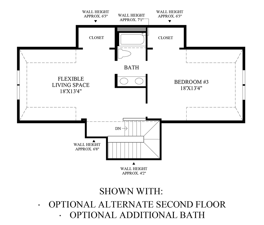 Optional Alternate Second Floor and Additional Bath