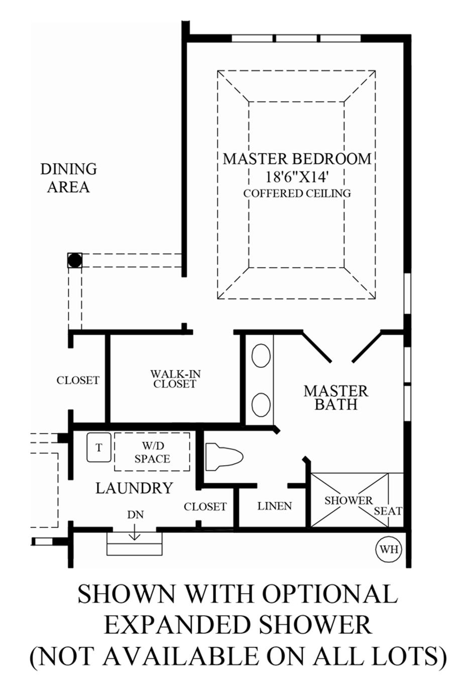 Optional Expanded Shower Floor Plan