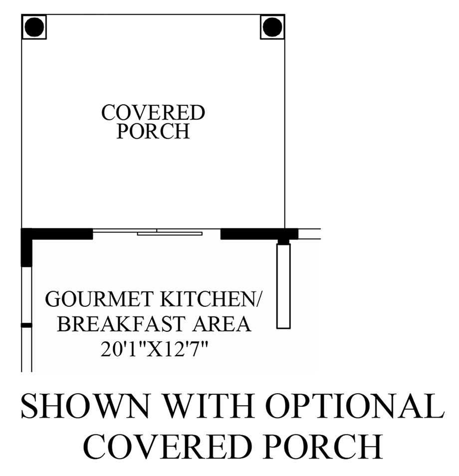Optional Covered Porch Floor Plan