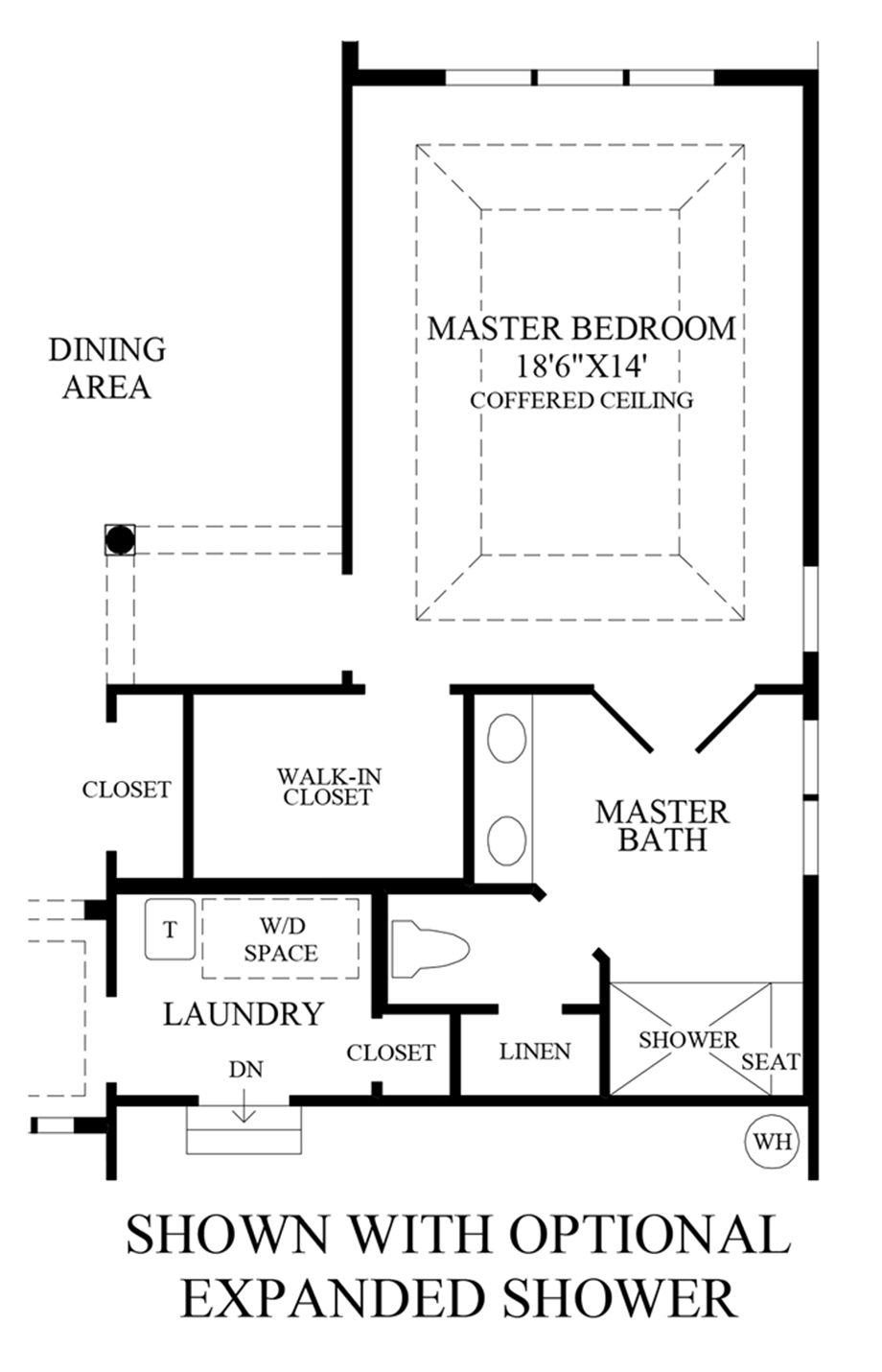 Optional Expanded Shower Floor Plan