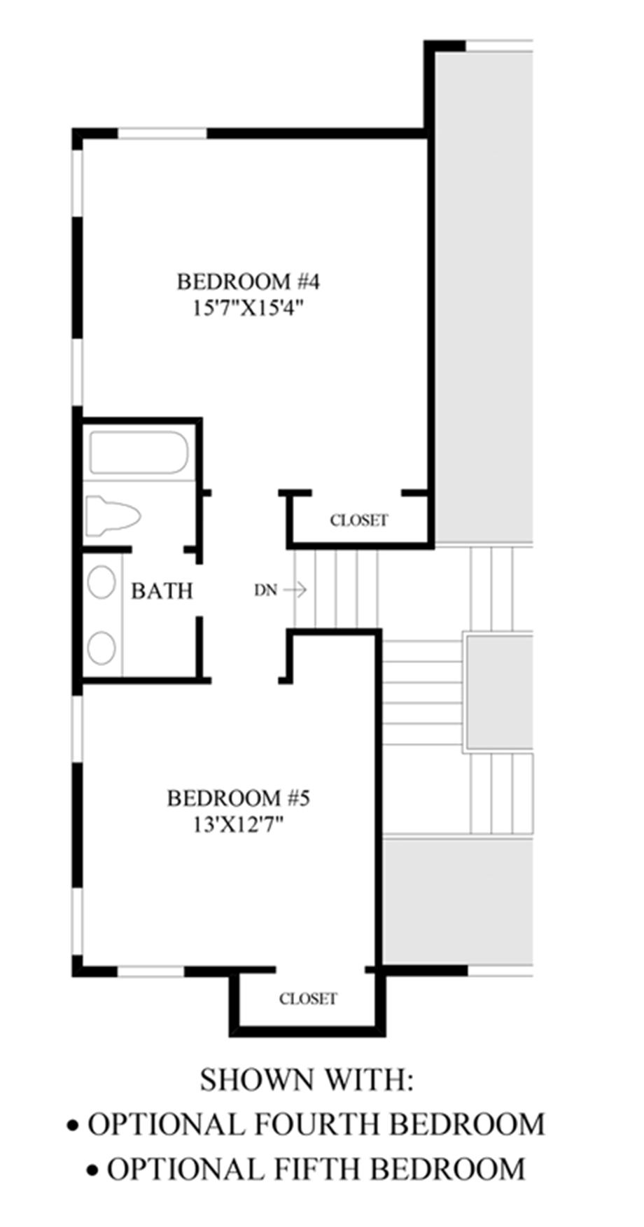 Optional Additional Bedrooms Floor Plan