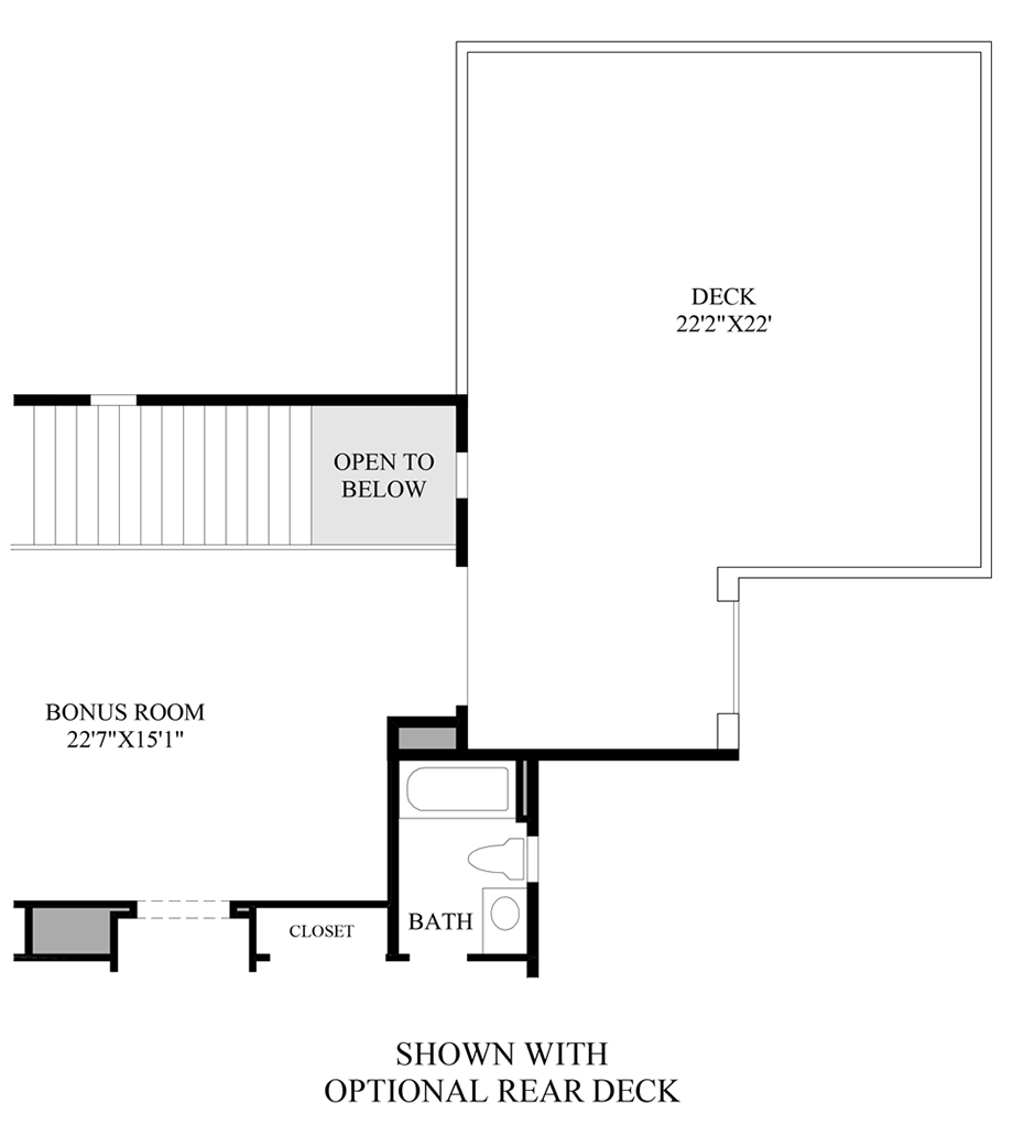 Optional Rear Deck Floor Plan