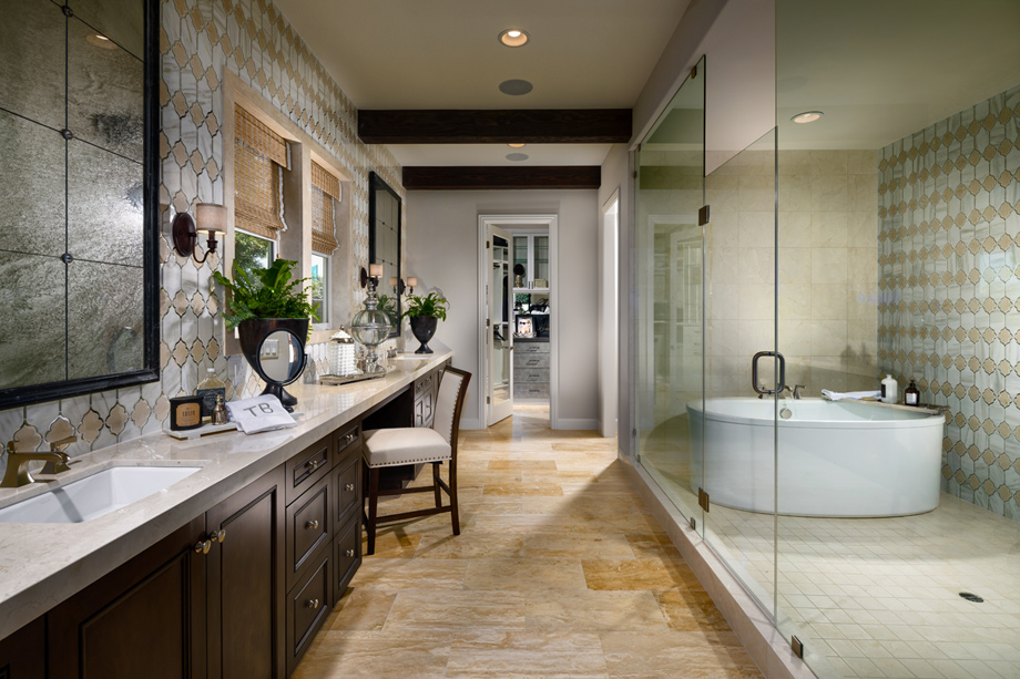 Toll brothers at robertson ranch the terraces the for Ranch bathroom design