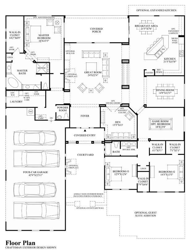 Queen Creek AZ New Homes for Sale – Custom Homes By Jeff Floor Plans
