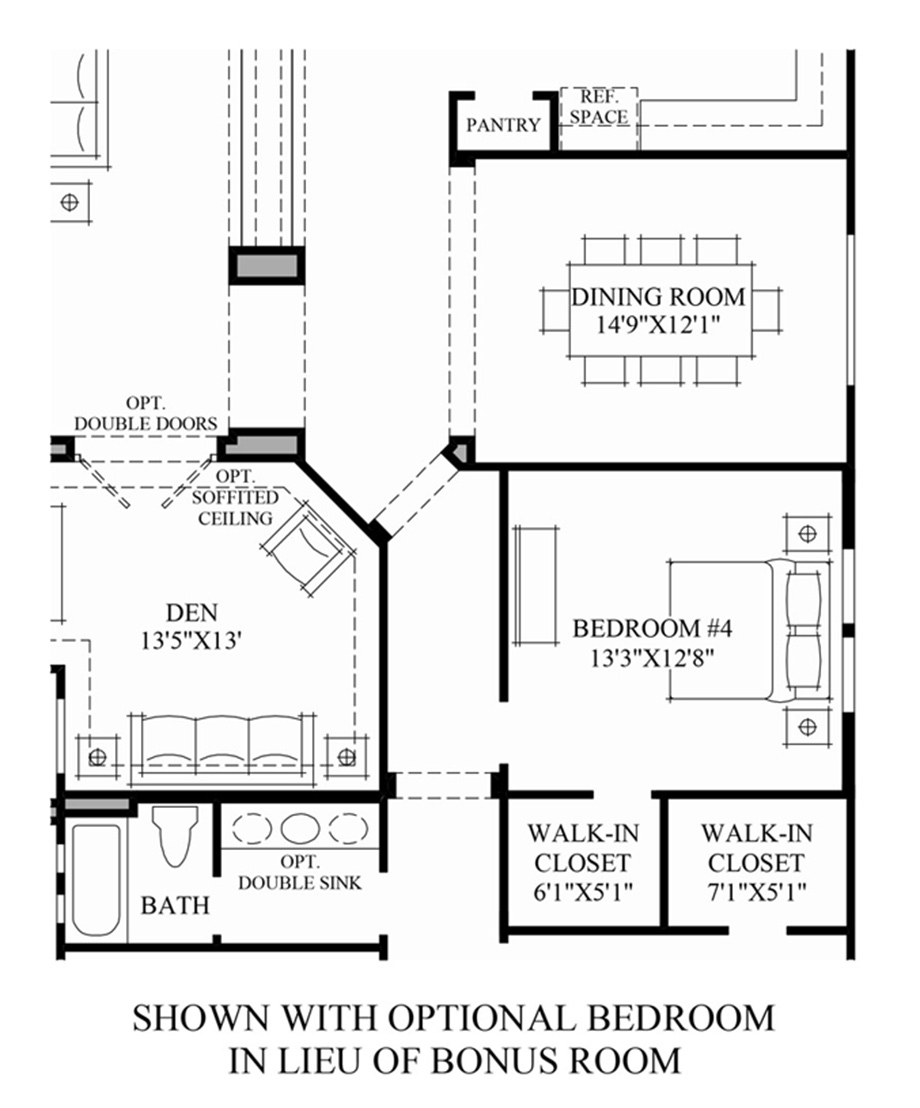 Optional Bedroom ILO Bonus Room Floor Plan