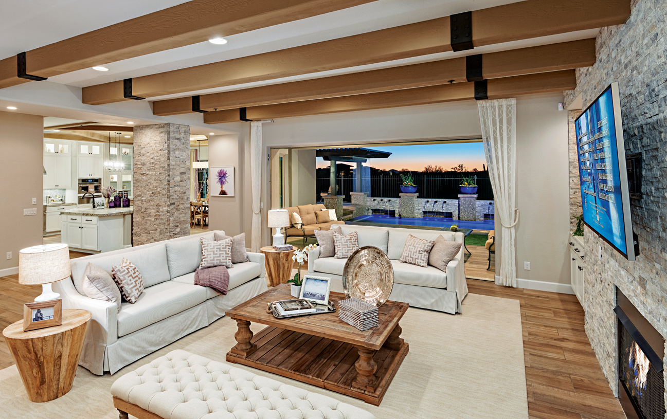 Open concept great rooms ideal for entertaining