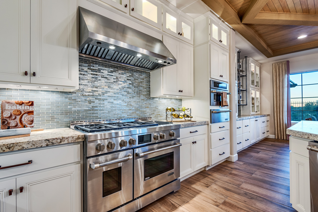 Well-equipped kitchens with upgraded appliances