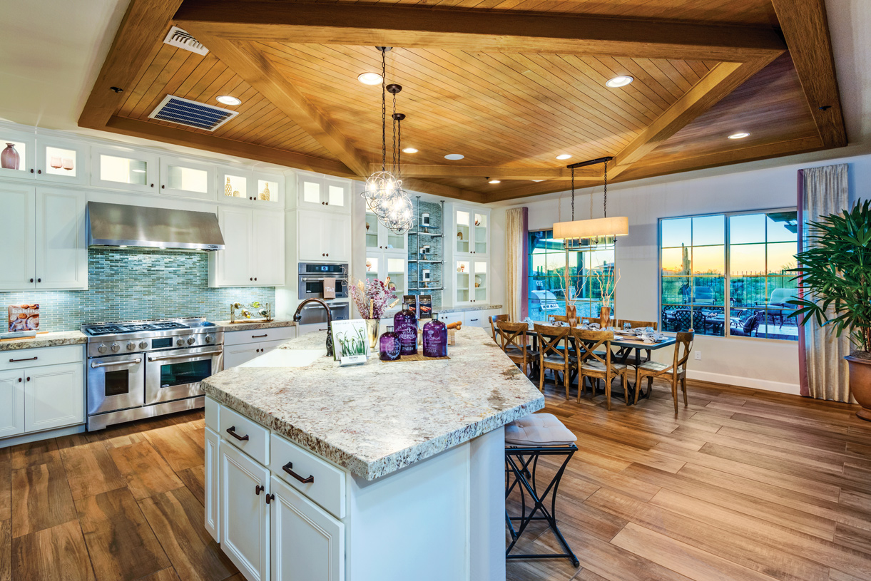 Spacious kitchen with ample countertop and cabinet space