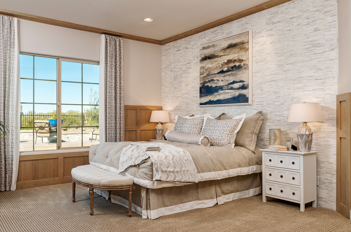 Luxury primary bedroom suites for relaxation