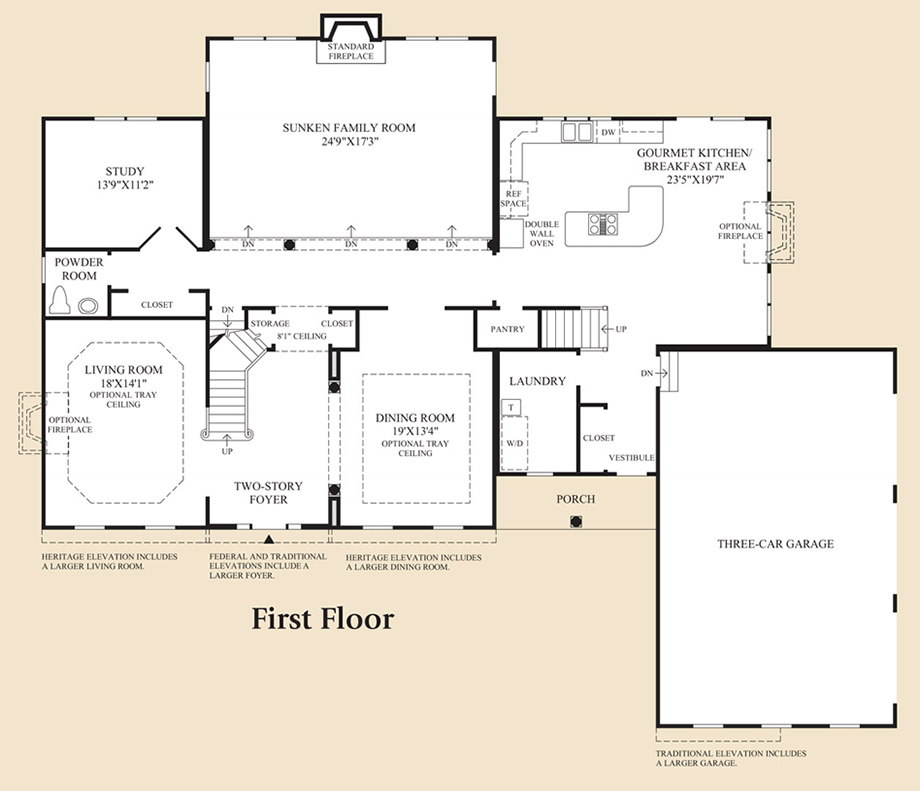 Monmouth chase the coventry home design for Coventry plan