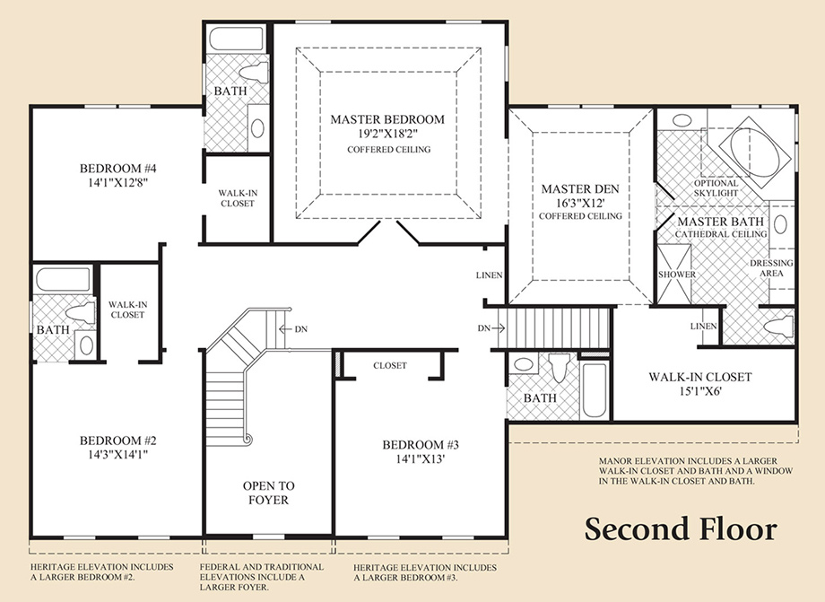 Monmouth chase the coventry home design for Coventry federal plans