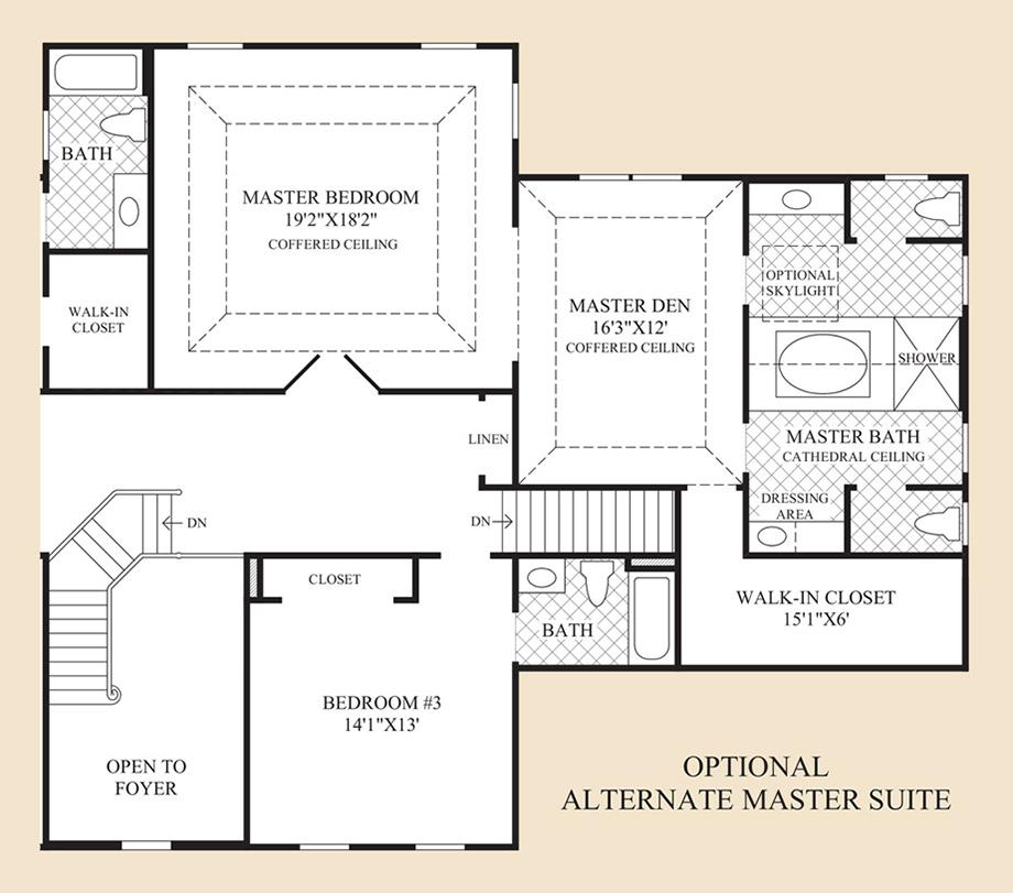 Optional Master Suite Floor Plan