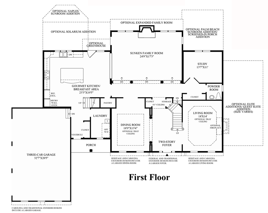 1st floor floor plan for Coventry homes floor plans