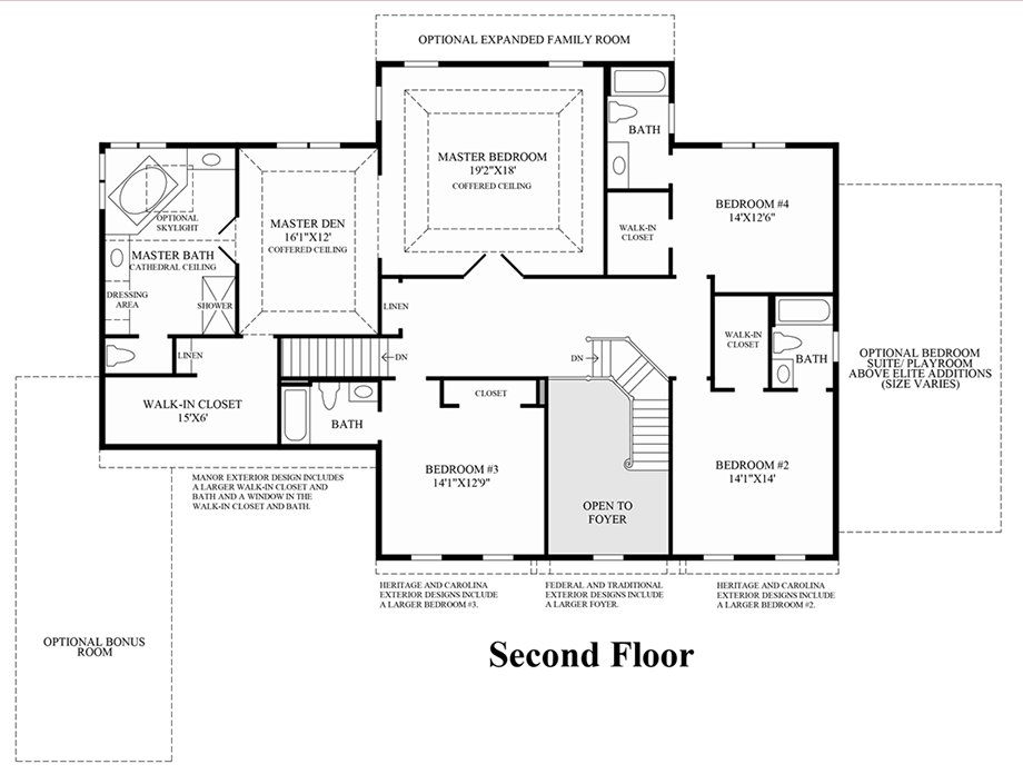 2nd floor floor plan for Coventry homes floor plans