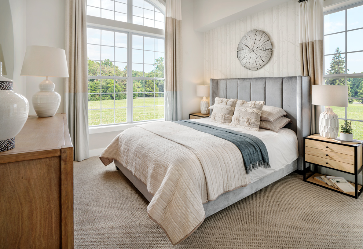 Guests will enjoy the serenity and seclusion offered by the first-floor bedroom