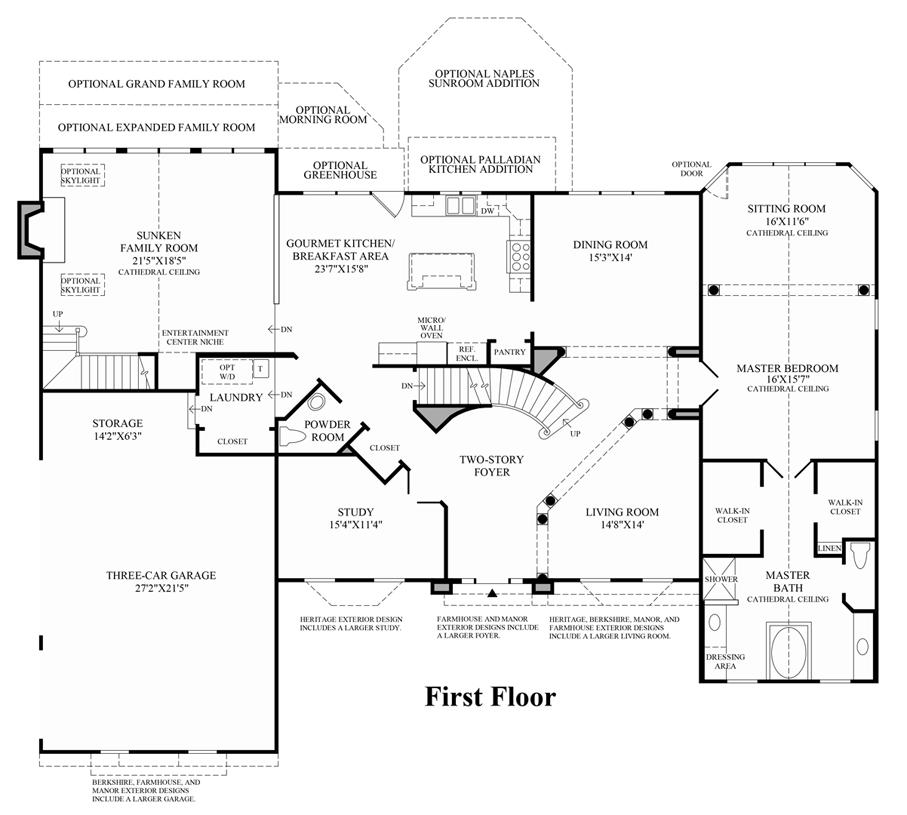 Woodlands of geddes glen the essington home design for Covington floor plan