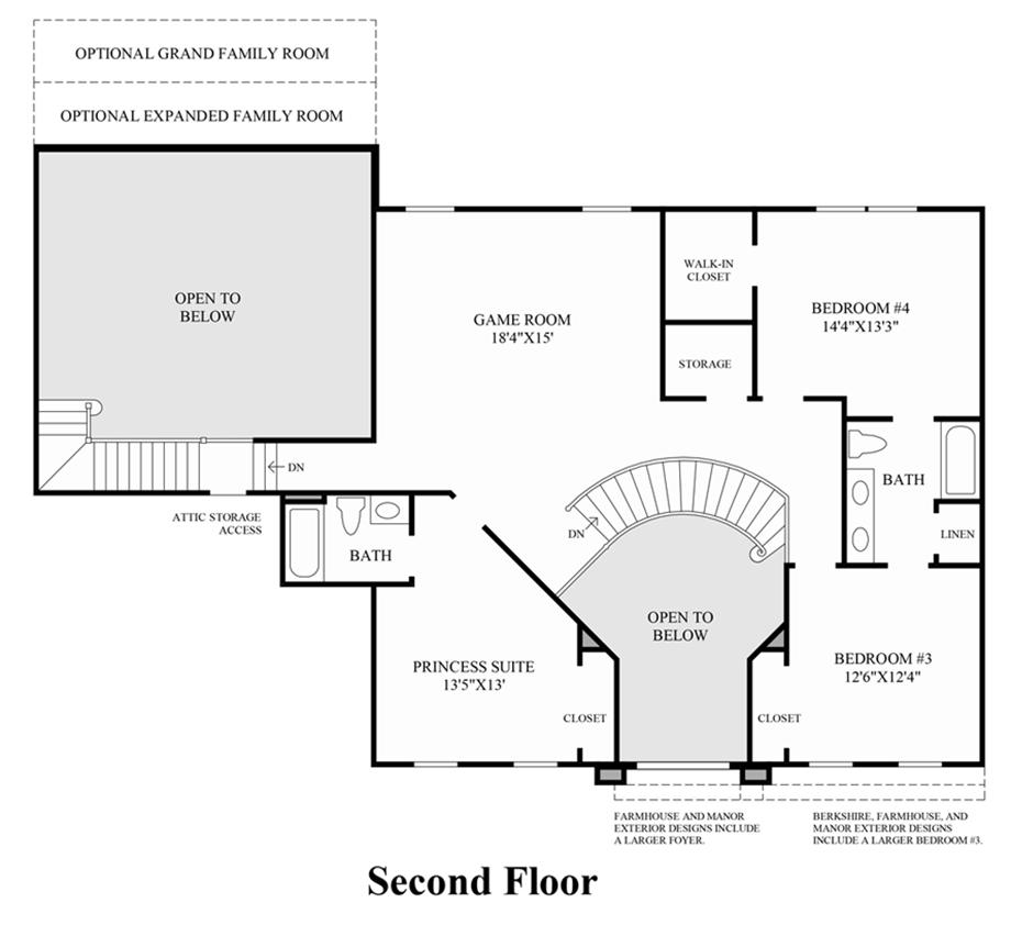 Woodlands of geddes glen the covington home design for Covington floor plan