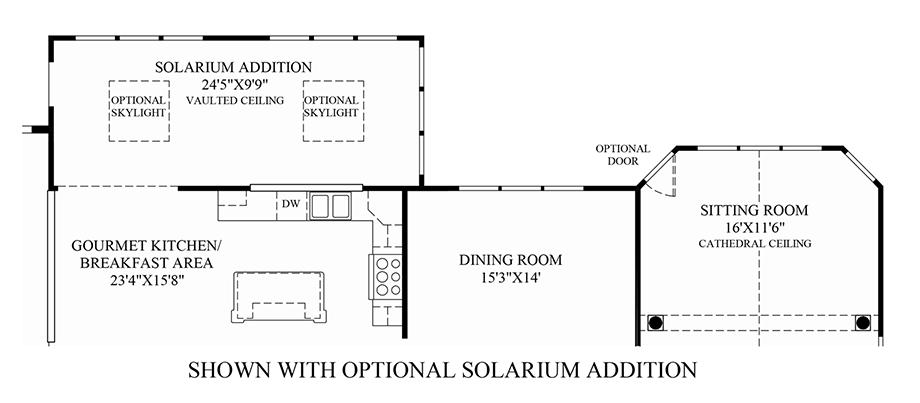 Optional Solarium Addition Floor Plan