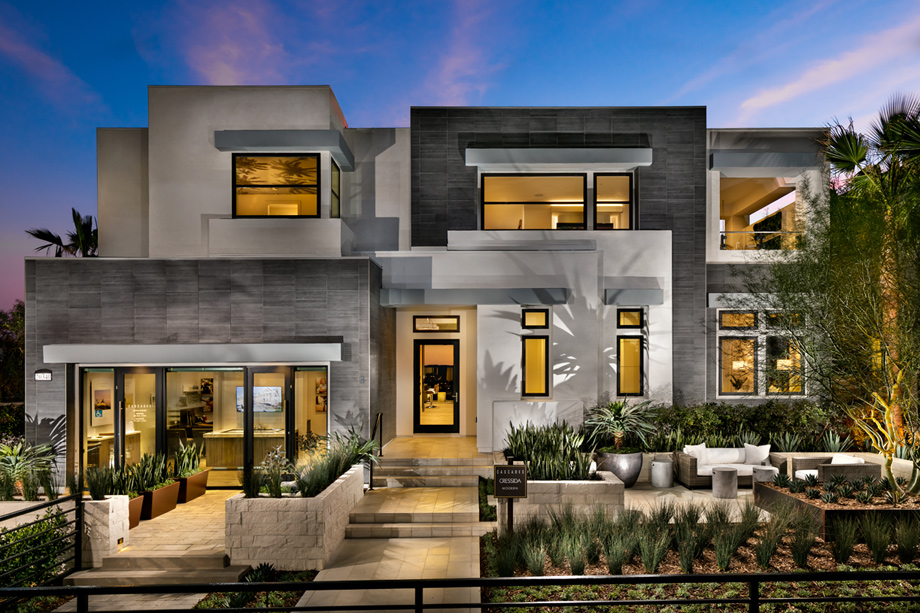 Floor Home Front Elevation : Westcliffe at porter ranch cascades collection the