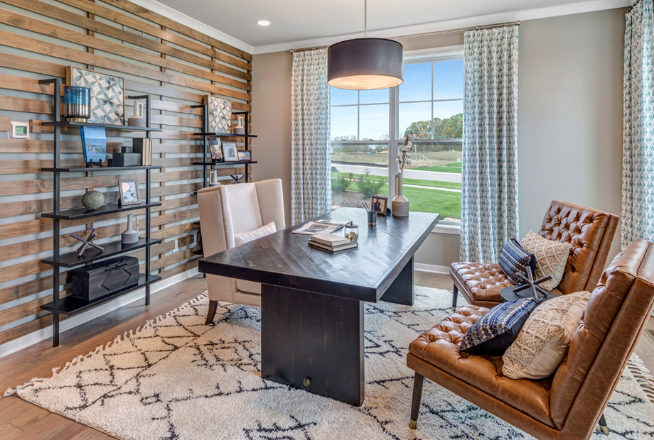 Flex space perfect for a home office or playroom