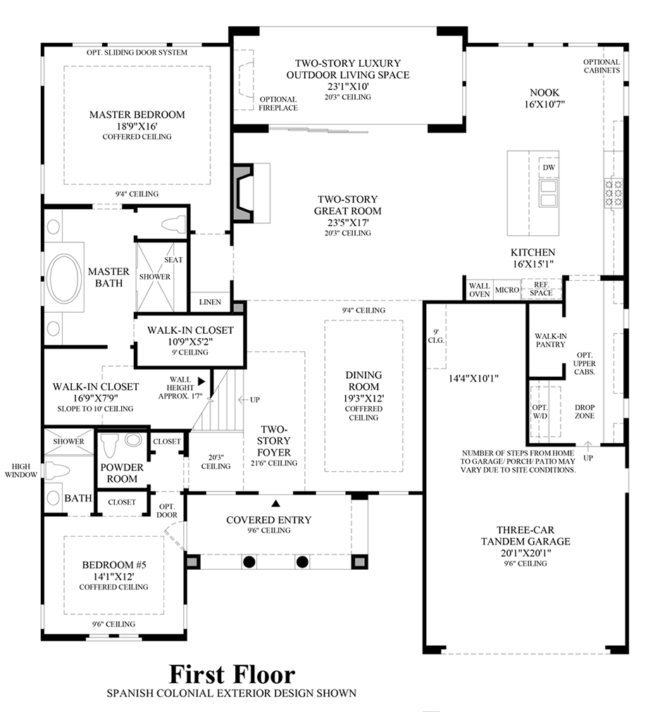Toll brothers at robertson ranch the bluffs the for Floor plans first