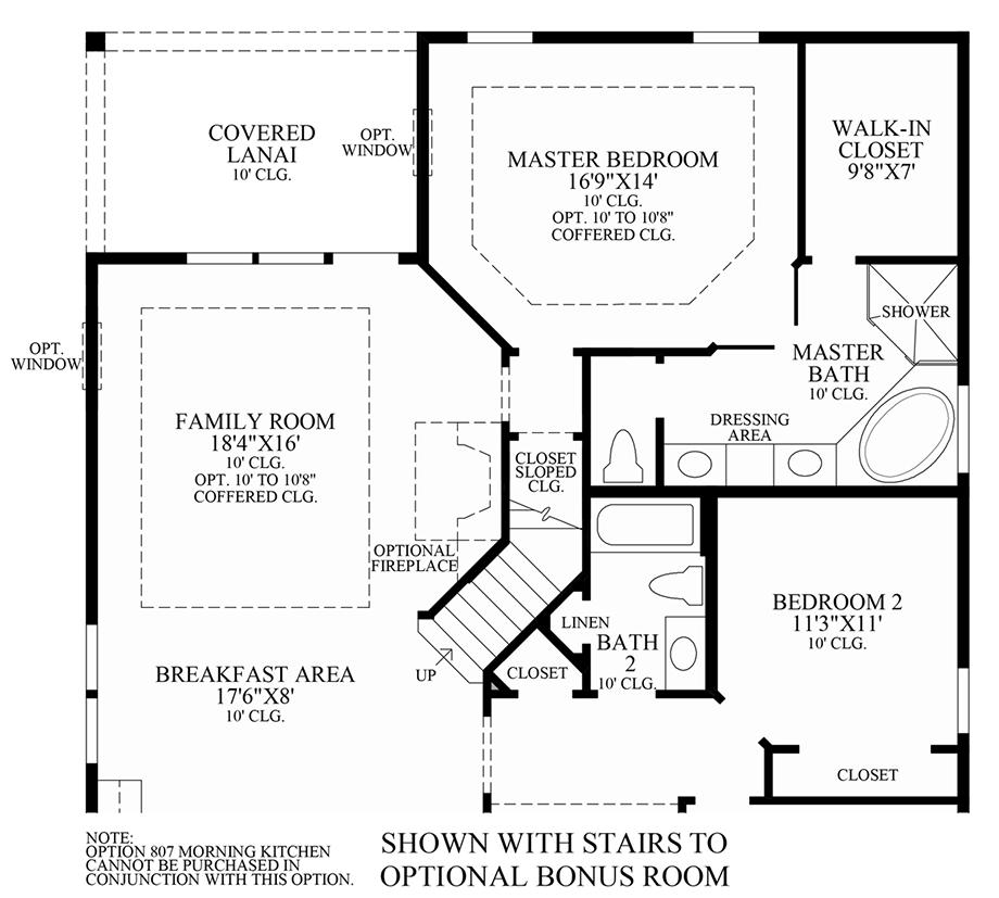 Optional Stairs to Bonus Room Floor Plan