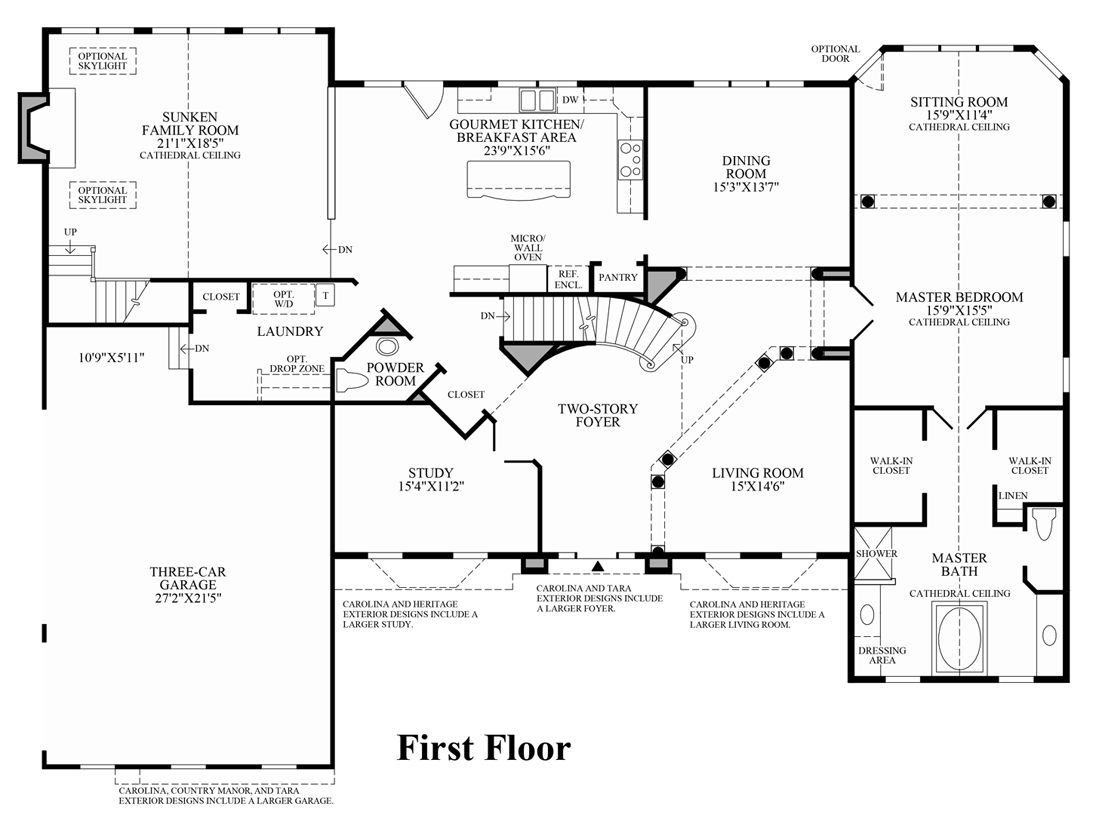 Center Hall Colonial House Plans: center hall colonial floor plans