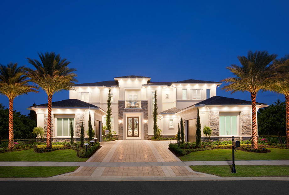Royal palm polo signature collection the villa lago for Custom home layouts