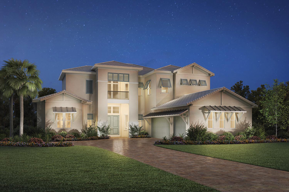 Naples Fl New Construction Homes Azure At Hacienda Lakes