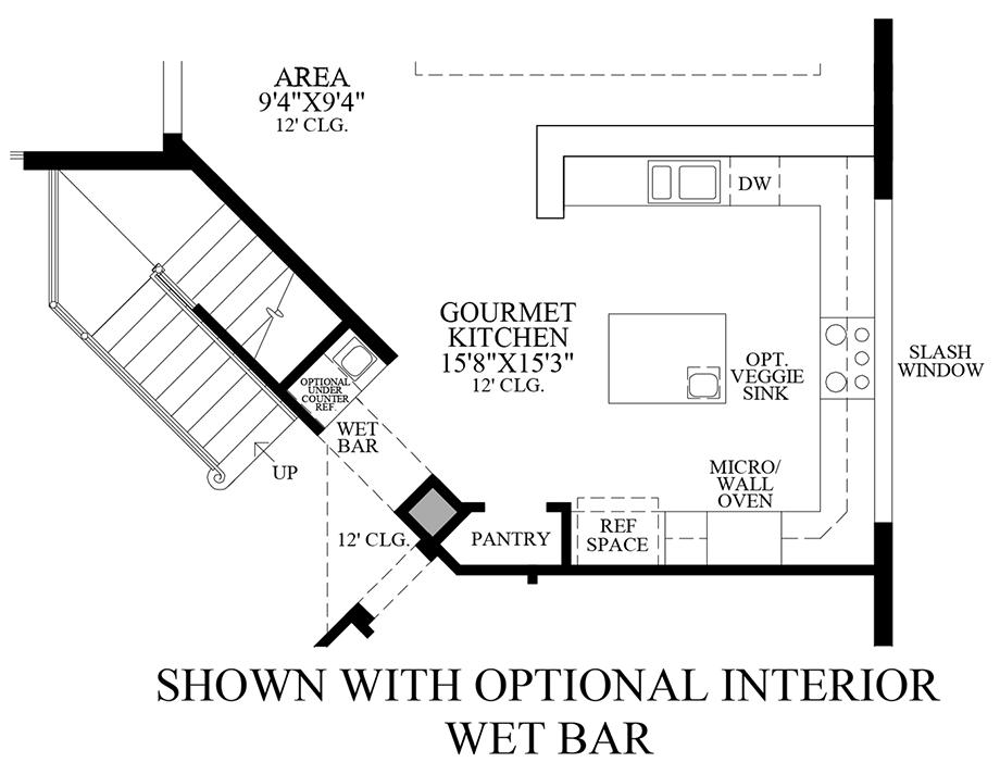 Optional Interior Wet Bar Floor Plan
