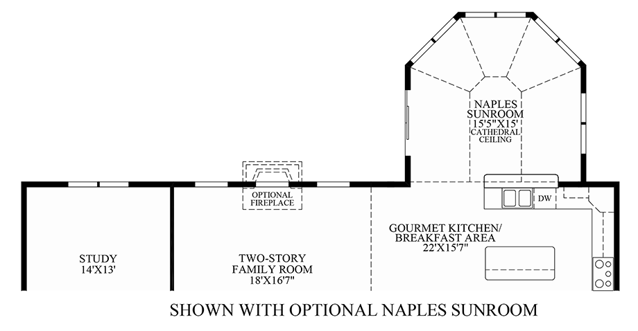 Optional Naples Sunroom Floor Plan