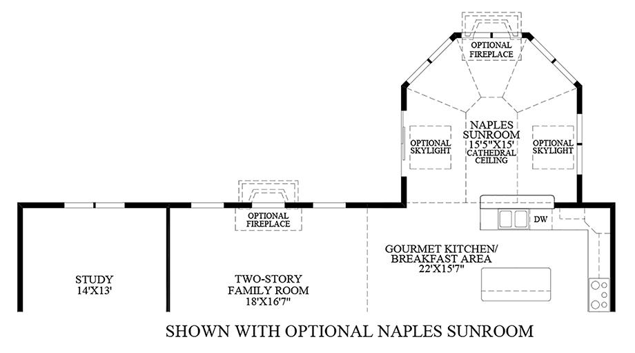 Optional Naples Sunroom Floor Plan