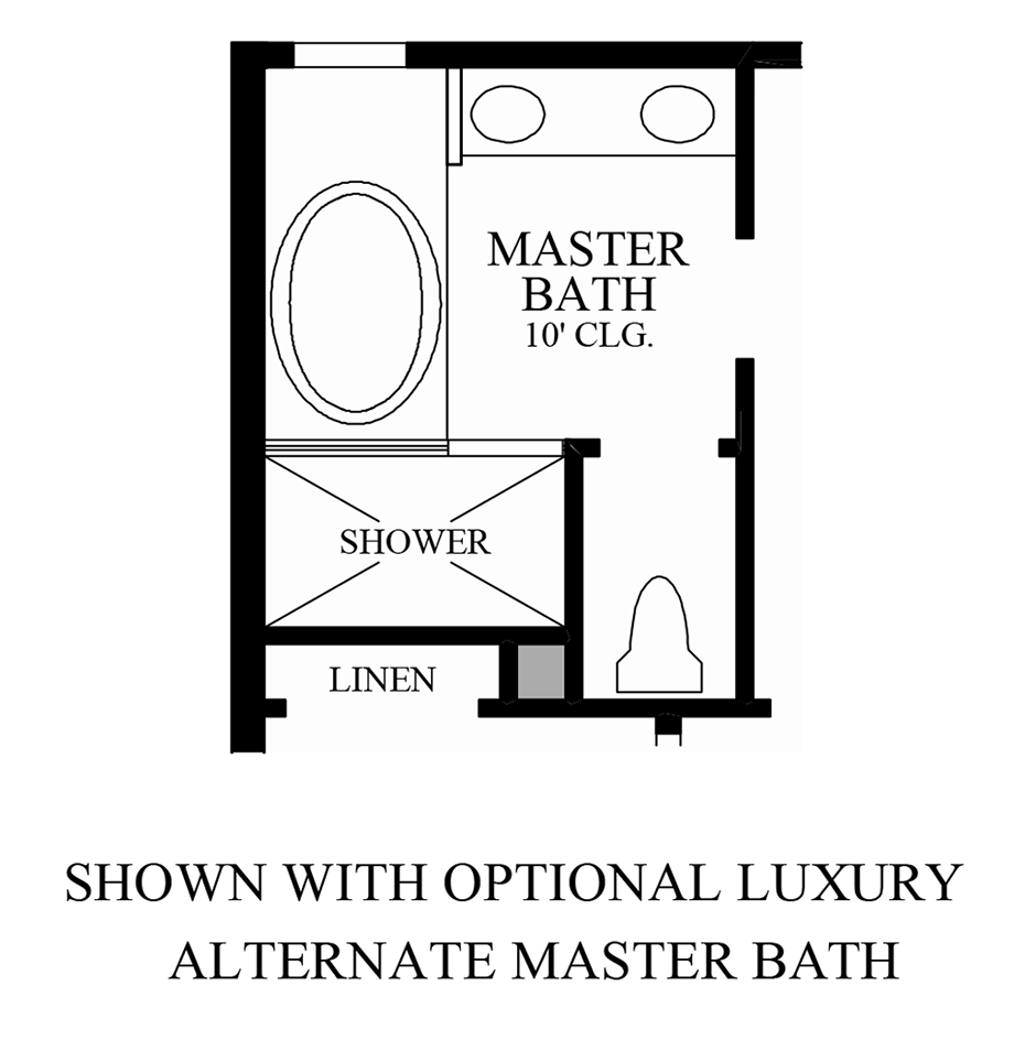 Optional Luxury Alternate Master Bath Floor Plan