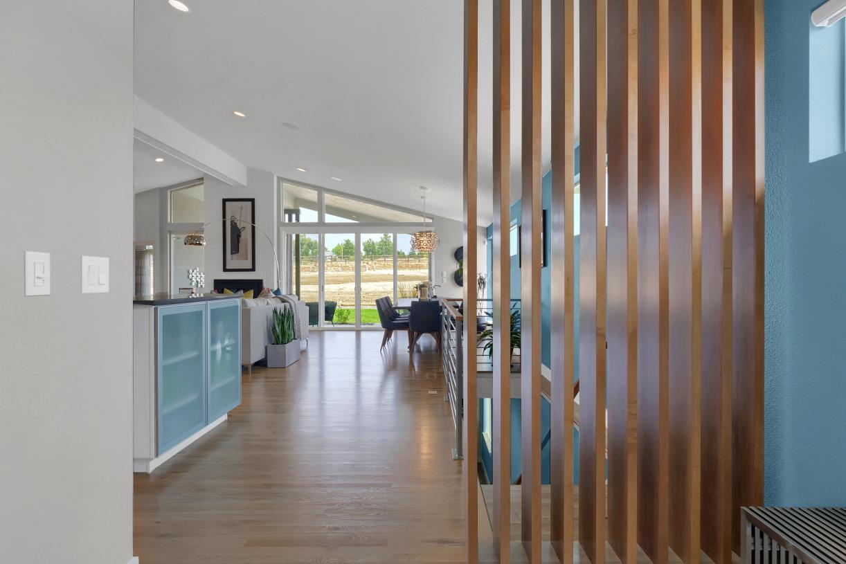 Mid-century modern architecture incorporated throughout the home