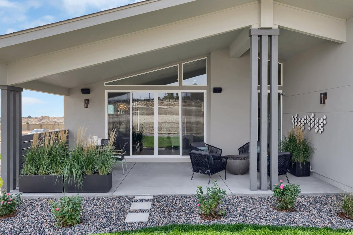 Enjoy the outdoors year-round with the roomy covered patio