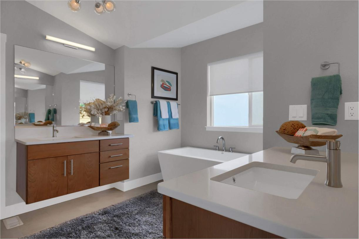 Create a spa at home in the expanded primary bathroom with a freestanding bathtub option