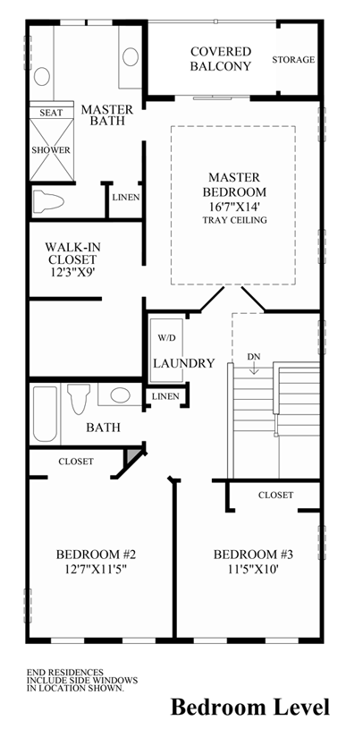 Media pa townhomes for sale ravenscliff at media for Stacked townhouse floor plans