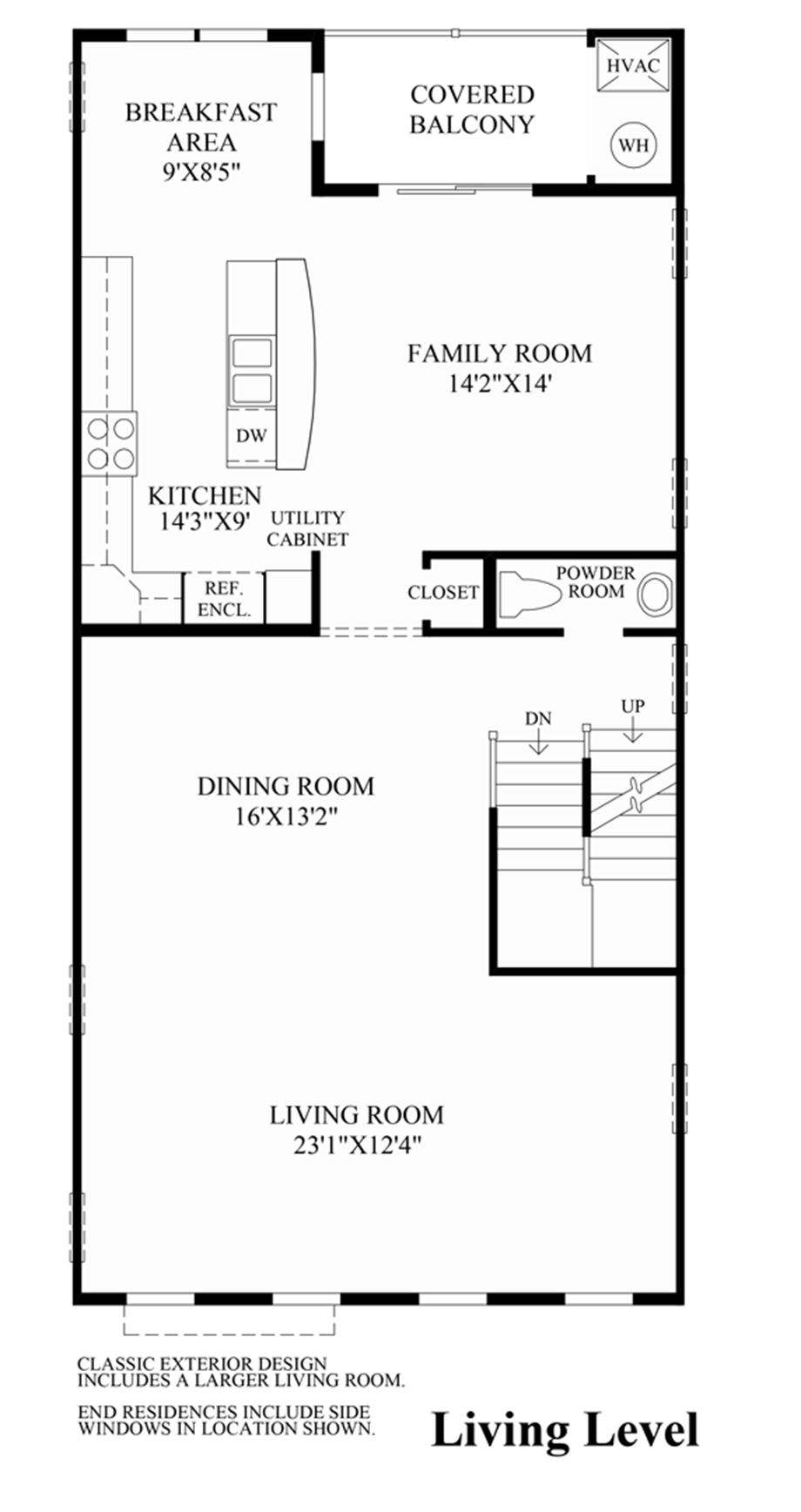 Ravenscliff at media stacked townhomes the darien home for Stacked townhouse floor plans