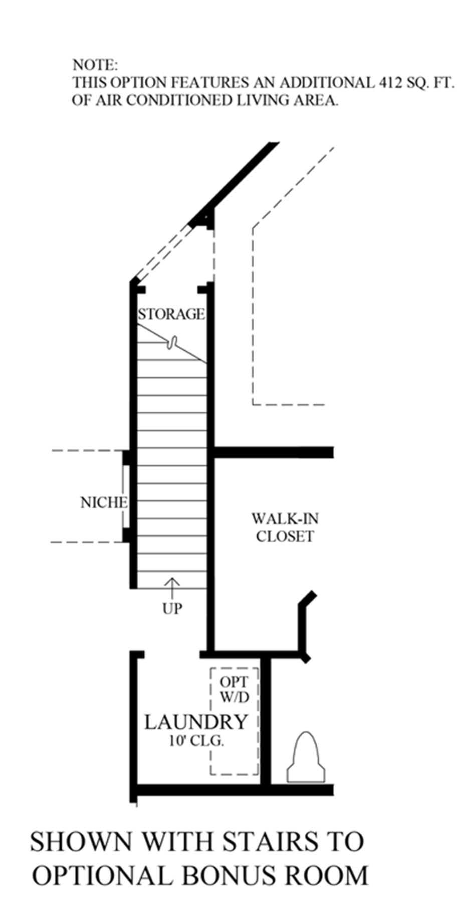 Stairs to Optional Bonus Room Floor Plan