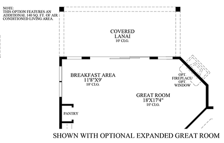 Optional Expanded Great Room