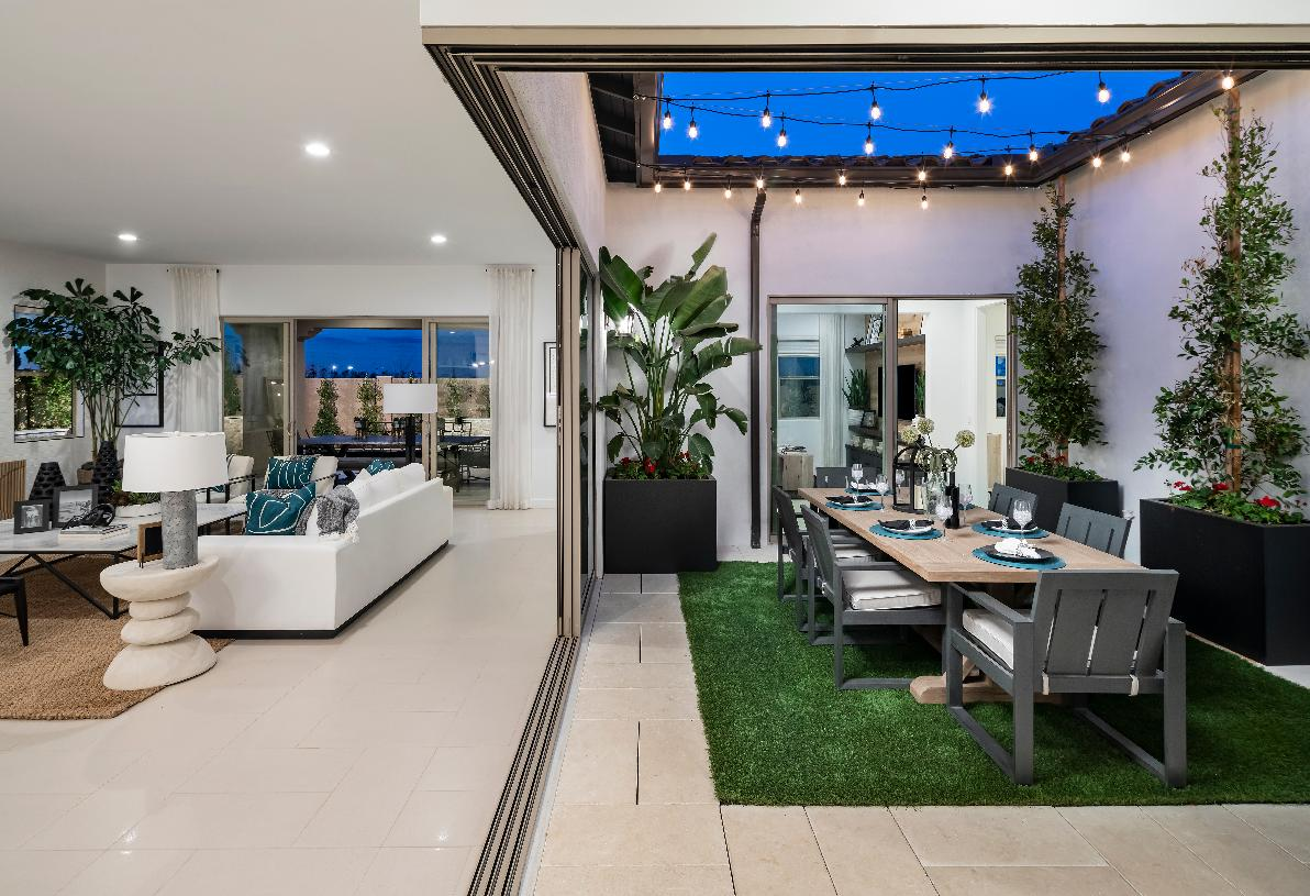 Central atrium fills the home with natural light and provides perfect space for outdoor dining