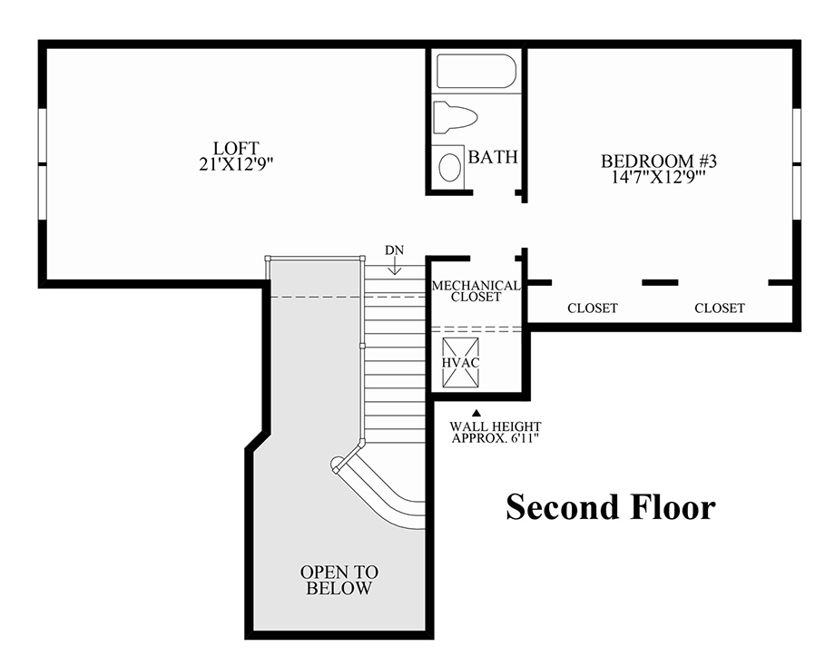 2nd floor - Deefield Park Homes Floor Plans