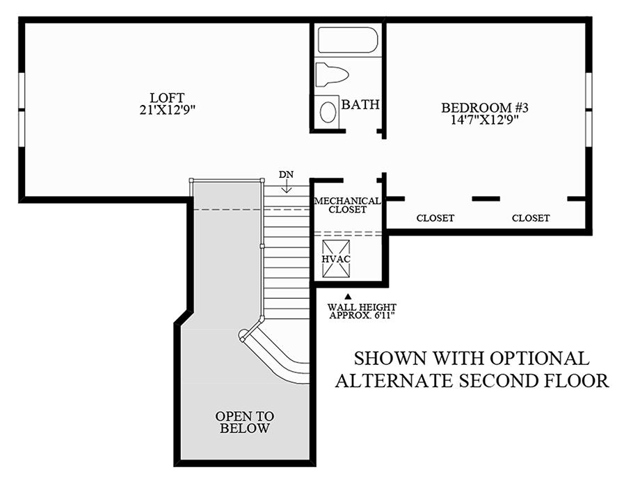 Optional Alternate Second Floor Floor Plan