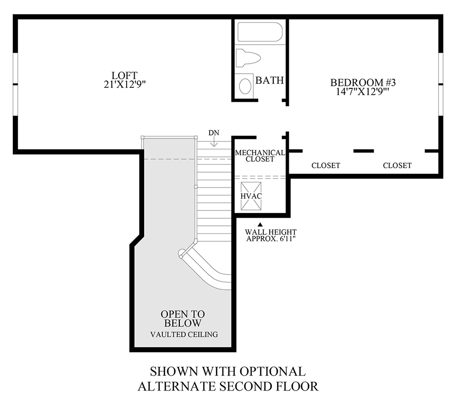 Optional Alternate 2nd Floor Floor Plan